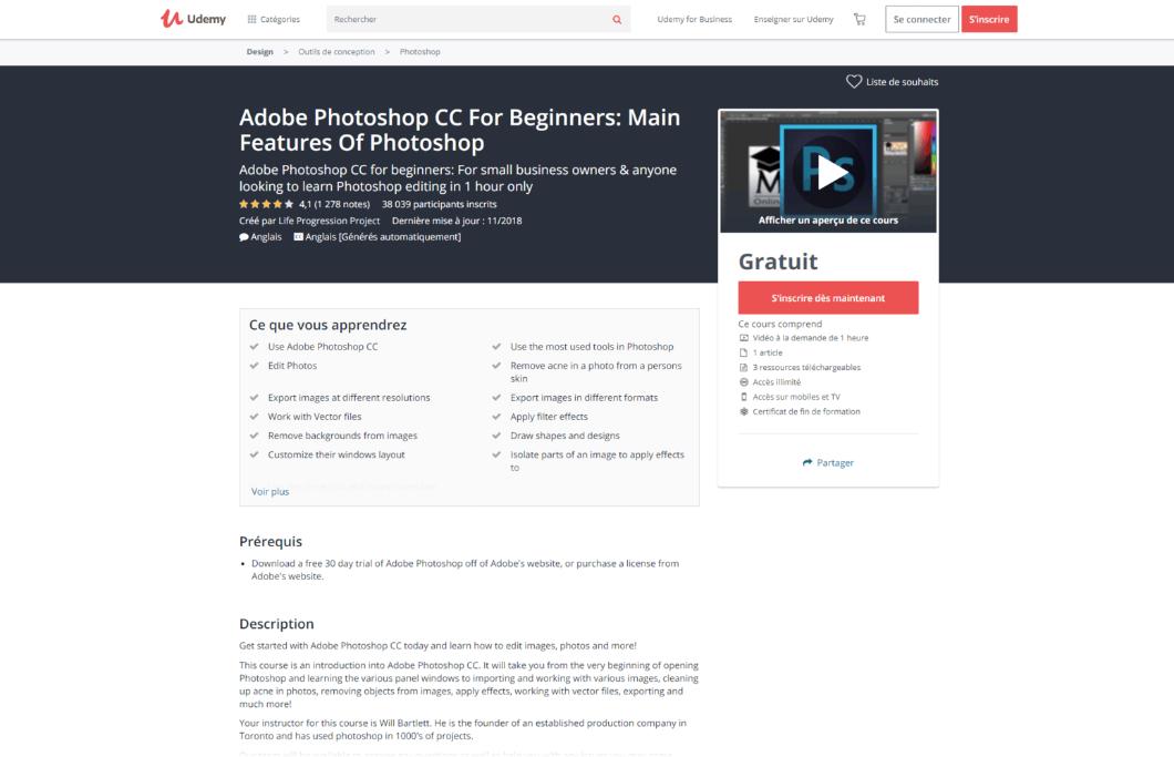 Adobe Photoshop CC pour les débutants: principales caractéristiques de Photoshop - Udemy