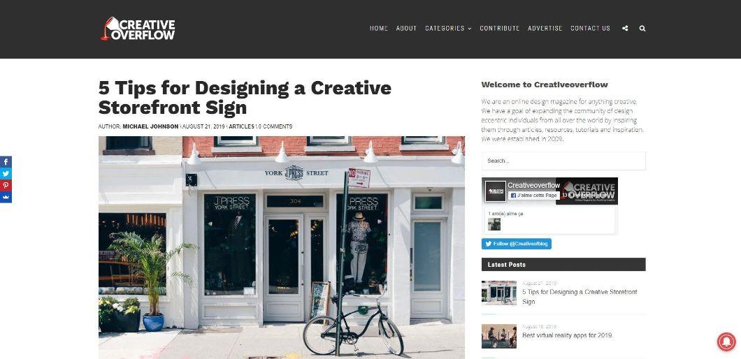 Creativeoverflow - blog de webdesign