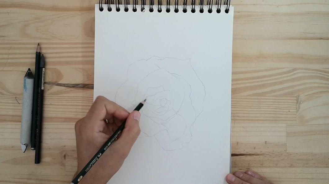 comment dessiner une rose - dessin de rose