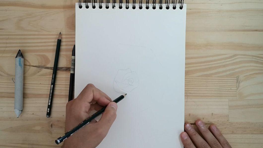 comment dessiner une rose - rose dessin
