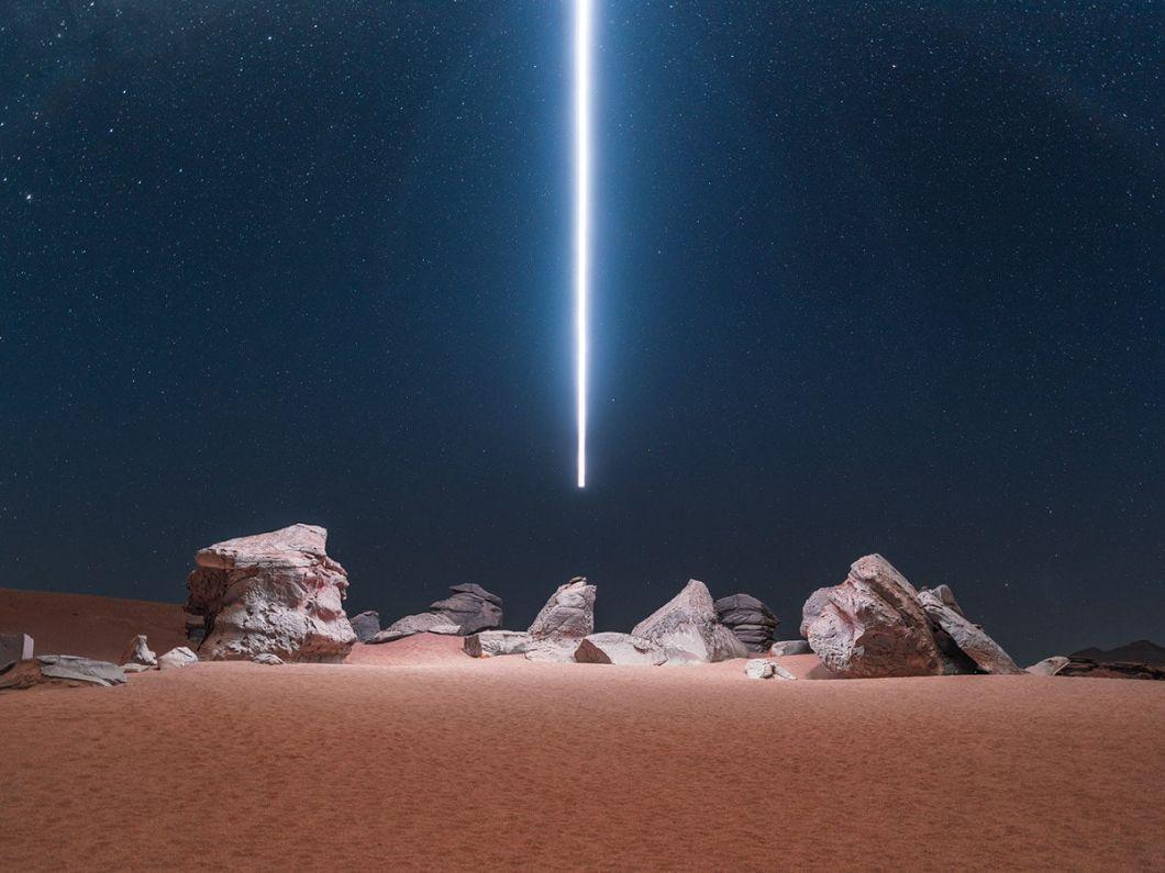 Photographie LED - drone - long exposition - Reuben Wu