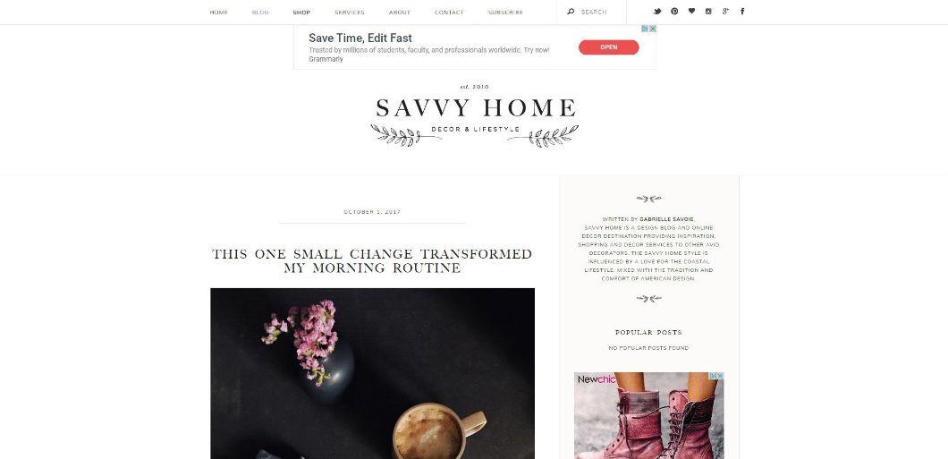 Savvy Home - blog de design d'intérieur