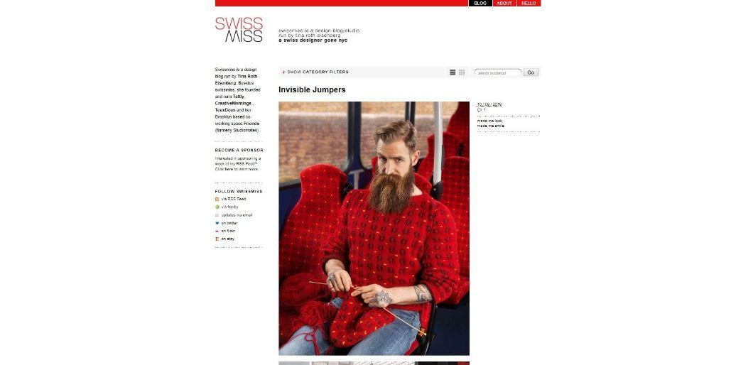 SwissMiss - blog de design