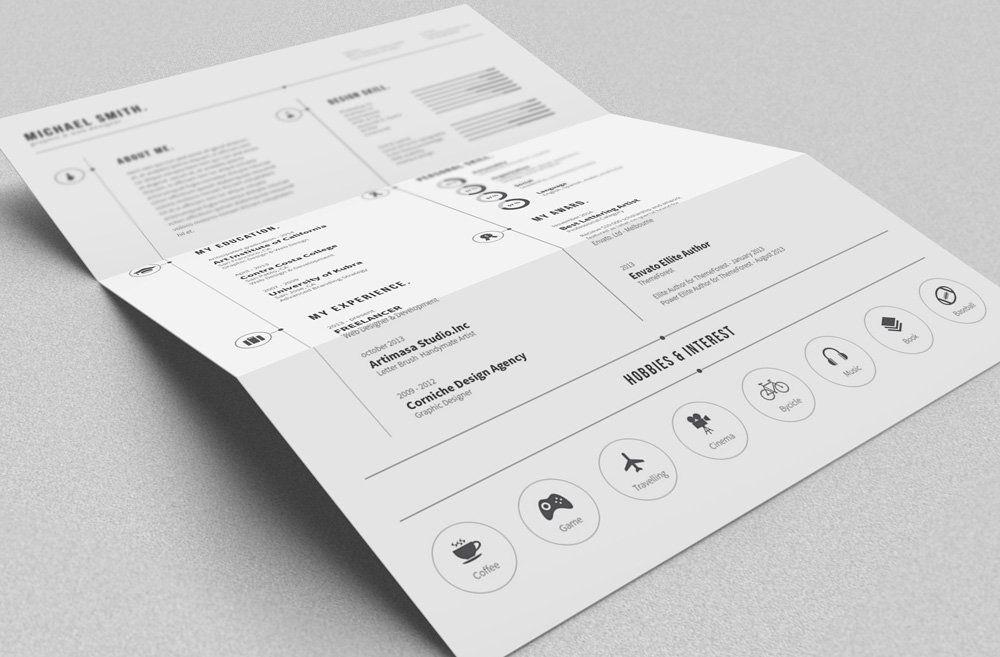 free simple graphic design resume