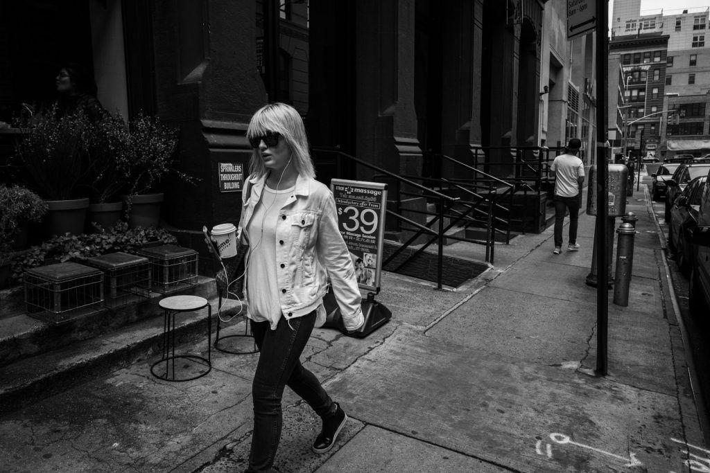 photo de new york - portrait noir et blanc