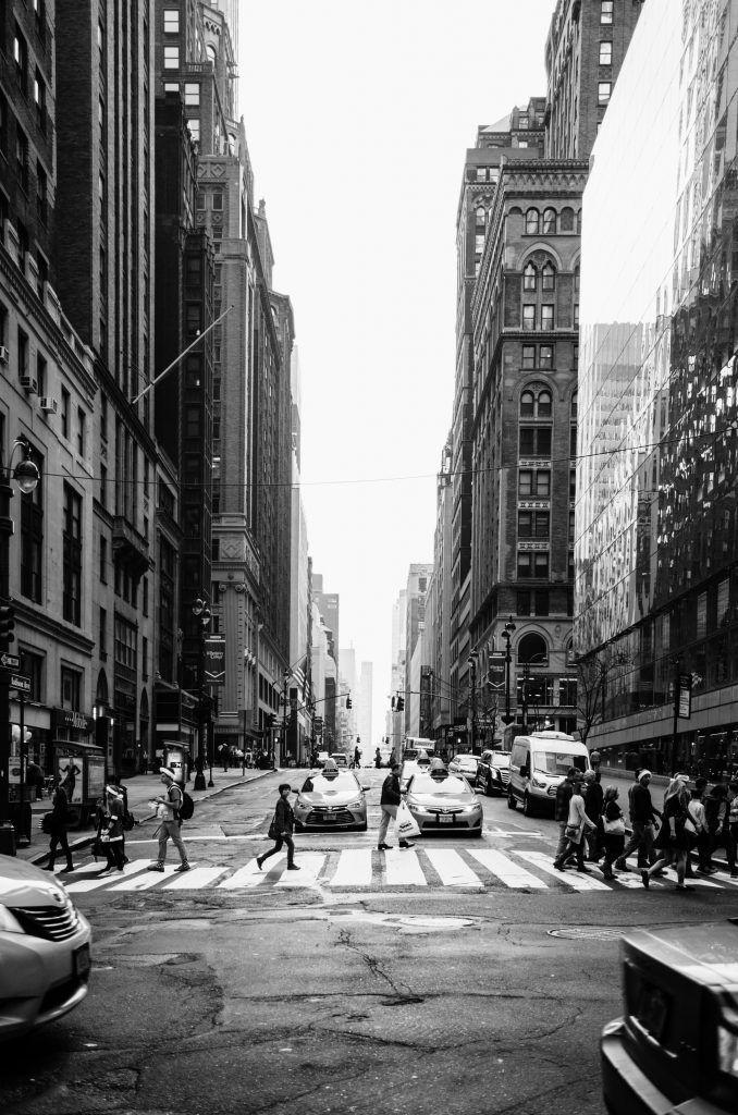 photo de new york en noir et blanc