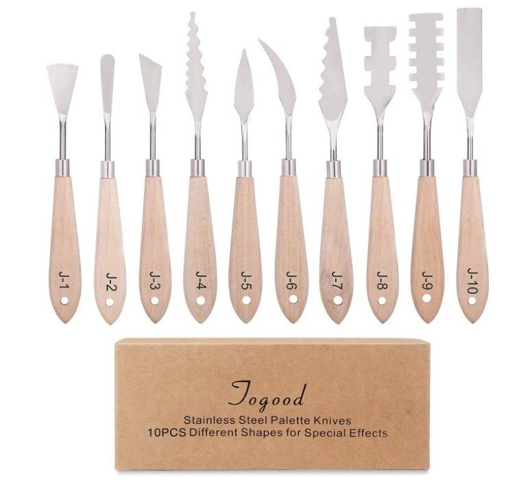 Togood Stainless Steel Artist Palette Knives