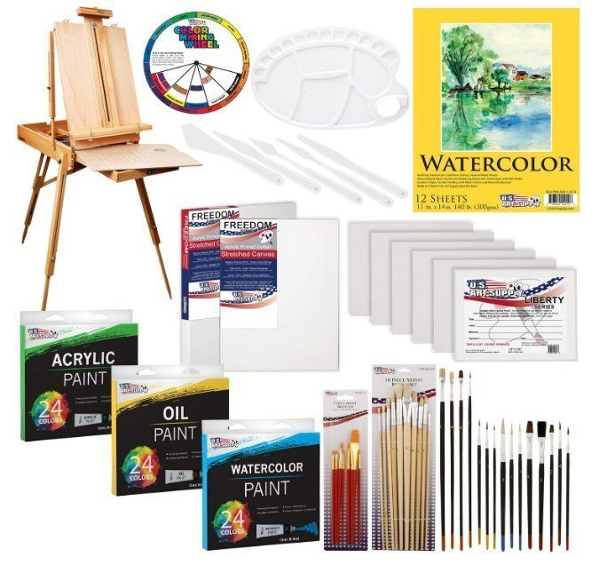 US Art Supply Painting Kit - Chevalet fournitures artistiques