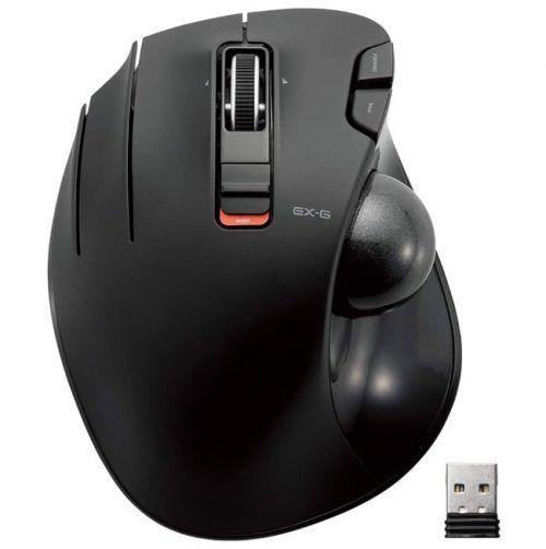 ELECOM M-XT4DRBK Wireless Trackball mouse for Left-Handed