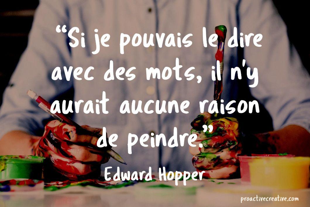 Citation d'art - Edward Hopper