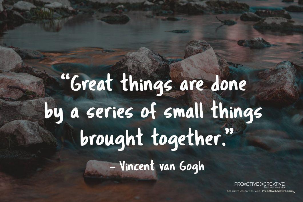 Creativity quote Vincent Van Gogh