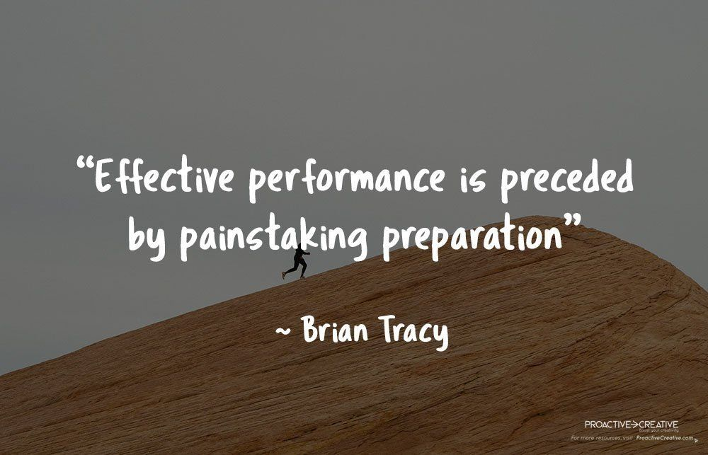 Best quotes about preparation- Brian Tracy