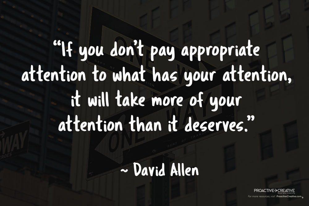 Quotes about productivity - David Allen