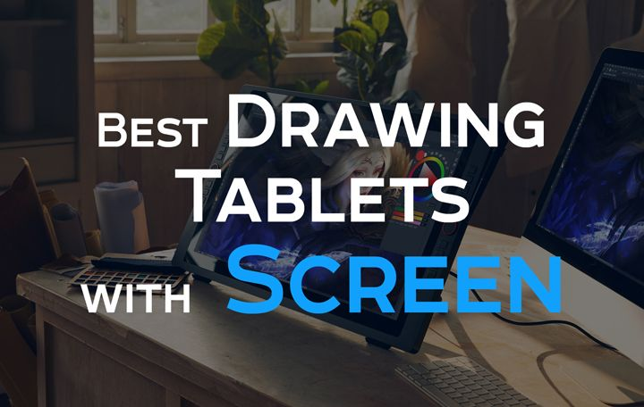 Drawing tablet with screen