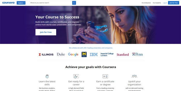 Coursera - Best alternatives to Udemy
