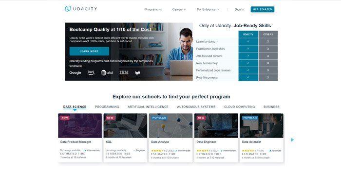 Udacity - Best alternatives to Udemy