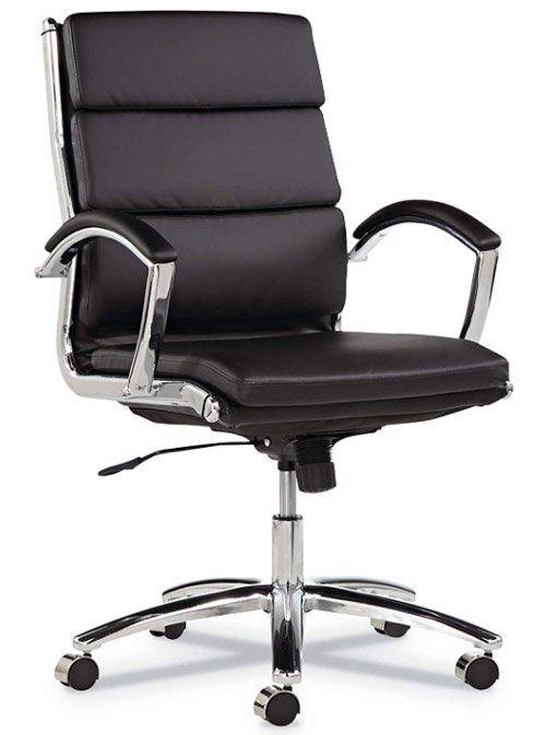 Alera Neratoli Mid-Back Swivel/Tilt Chair - Minimalist office chair