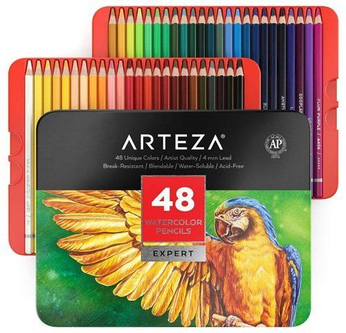 Best Watercolor Pencils for Artists - ARTEZA Professional Watercolor Pencils