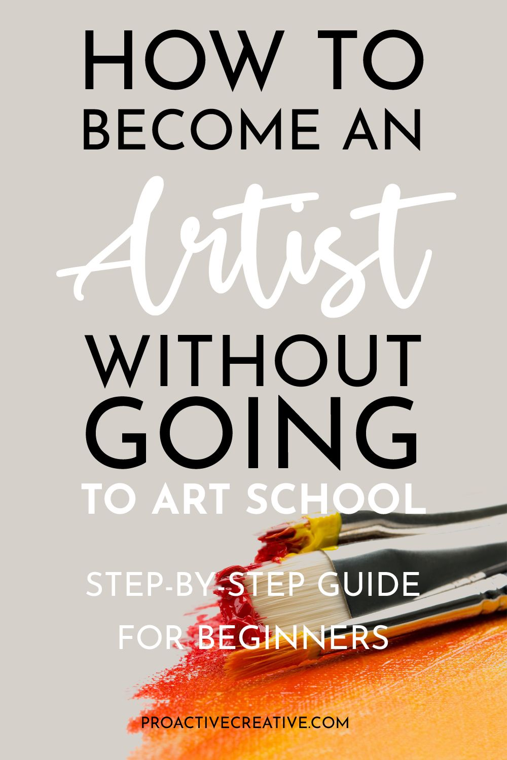 How to become an artist without a degree