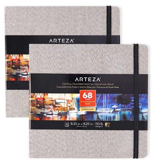 Meilleurs carnets de croquis à l'aquarelle pour artistes - Arteza - Cahiers d'aquarelle