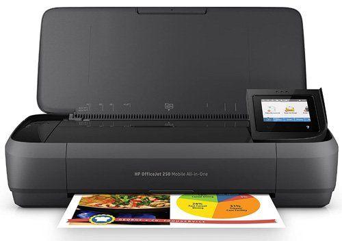 Les meilleures imprimantes pour les enseignants et l'école à la maison- HP Officejet Mobile 250 Imprimante portable Multifonction jet d'encre