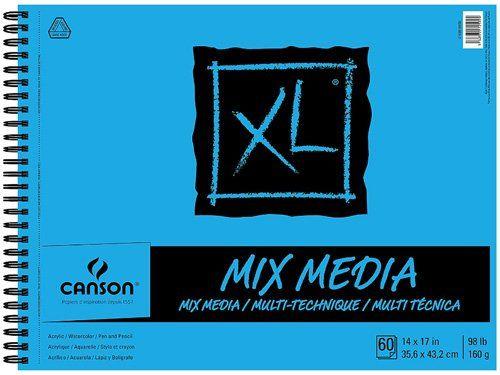 Meilleurs carnets de croquis à l'aquarelle pour artistes - Canson XL Series Tapis multimédia