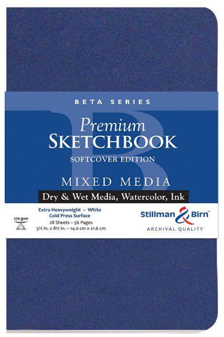 Meilleurs carnets de croquis à l'aquarelle pour artistes - Stillman & Birn Beta Series