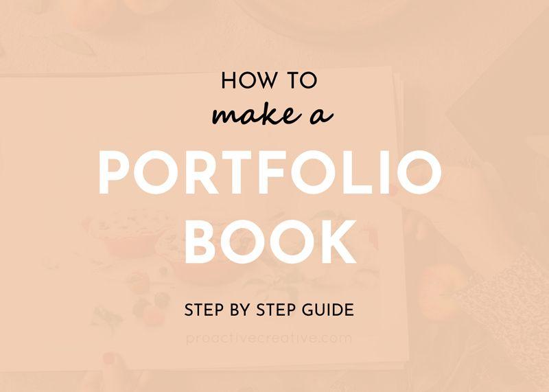 how to-make a portfolio book diy online