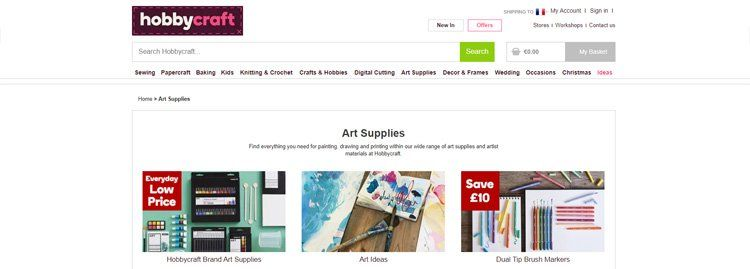 Hobbycraft art affiliate program