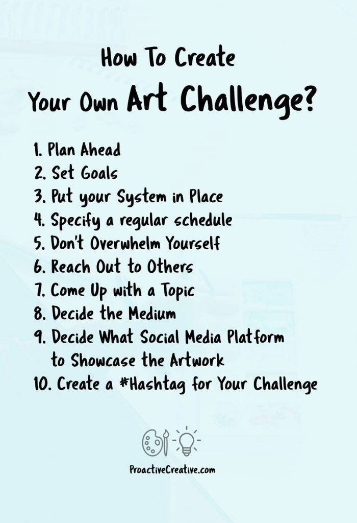 How to create your own Art challenges