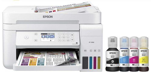 ink tank printer - Epson EcoTank ET-3760 Wireless Color All-in-One