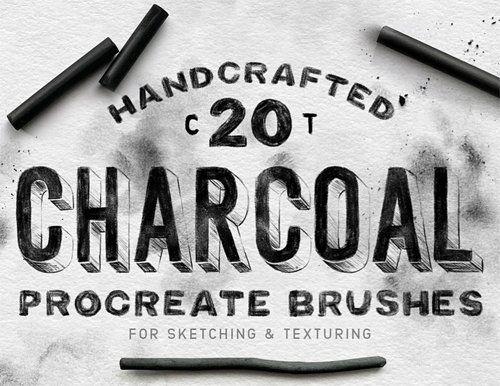 Charcoal Procreate Brushes