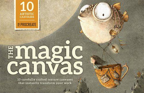The Magic Canvas for Procreate – Texture Overlays