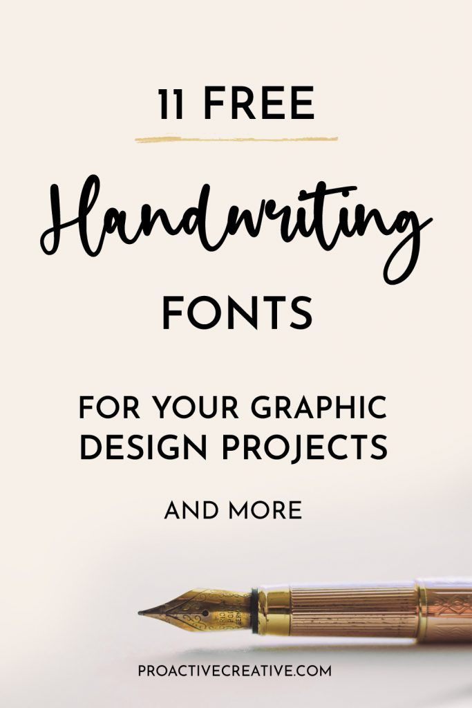 11 Best Free Handwriting Fonts For Your Graphic Design Projects