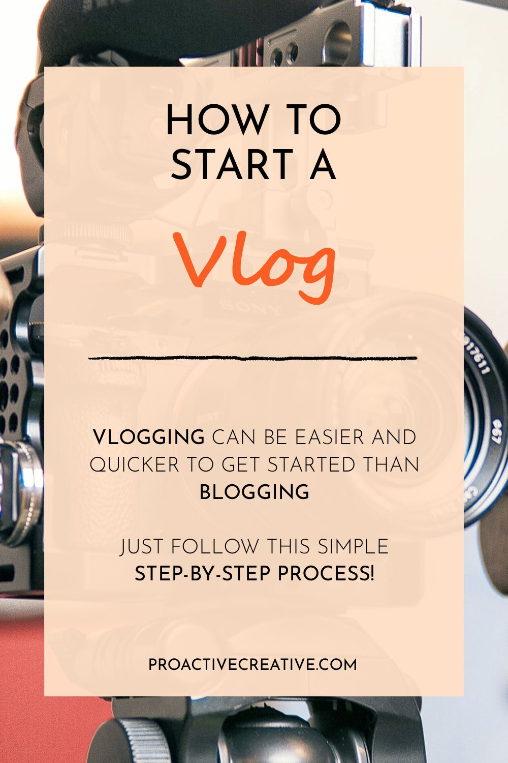 How to Start a Vlog