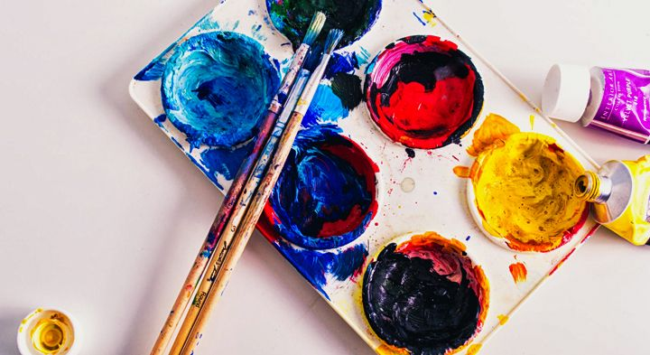 Gouache painting creative hobbies