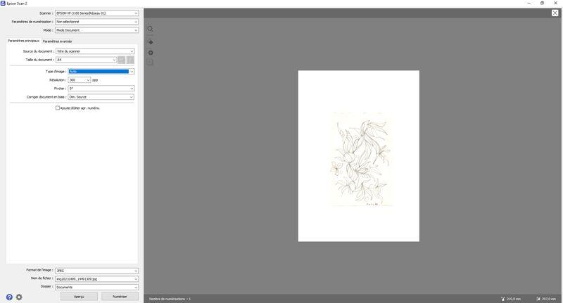 Scannez ou photographiez votre dessin