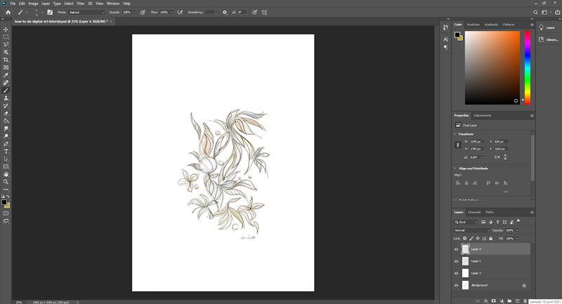 Renforcer la couleur de votre dessin numérique