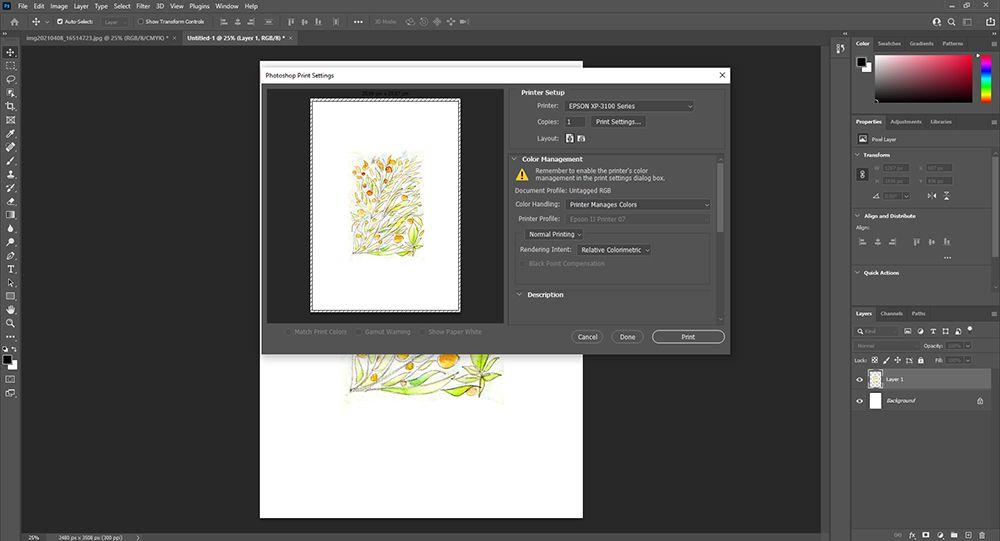 Imprimer votre illustration à partir de photoshop