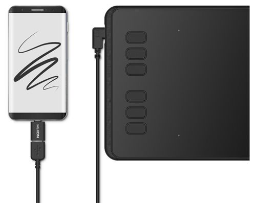 Huion Inspiroy H640P connectivity