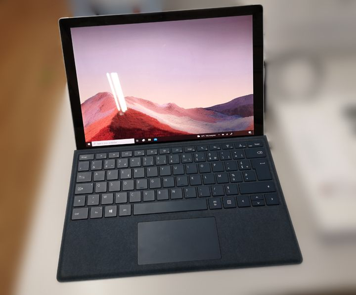 Note taking tablet - Microsoft Surface Pro 7