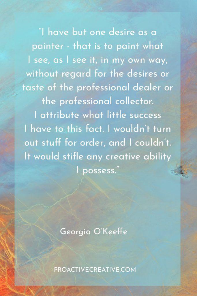 Artist statement example Georgia O'Keeffe