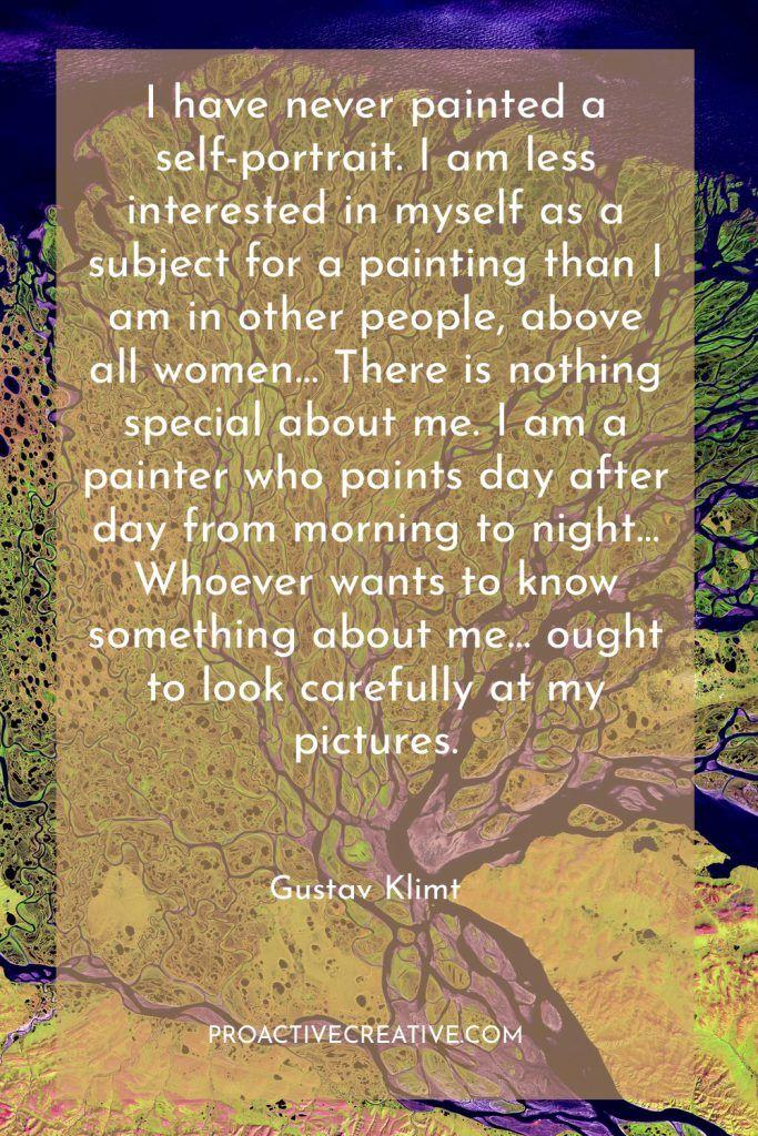 Artist statement example Gustav Klimt