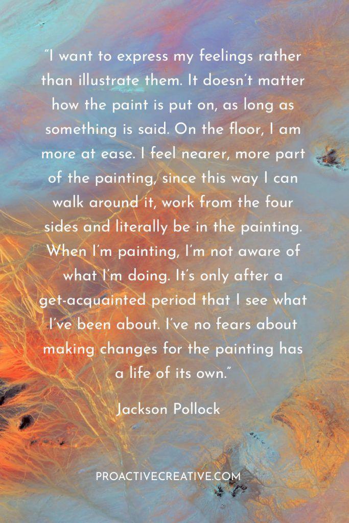 Artist statement example Jackson Pollock