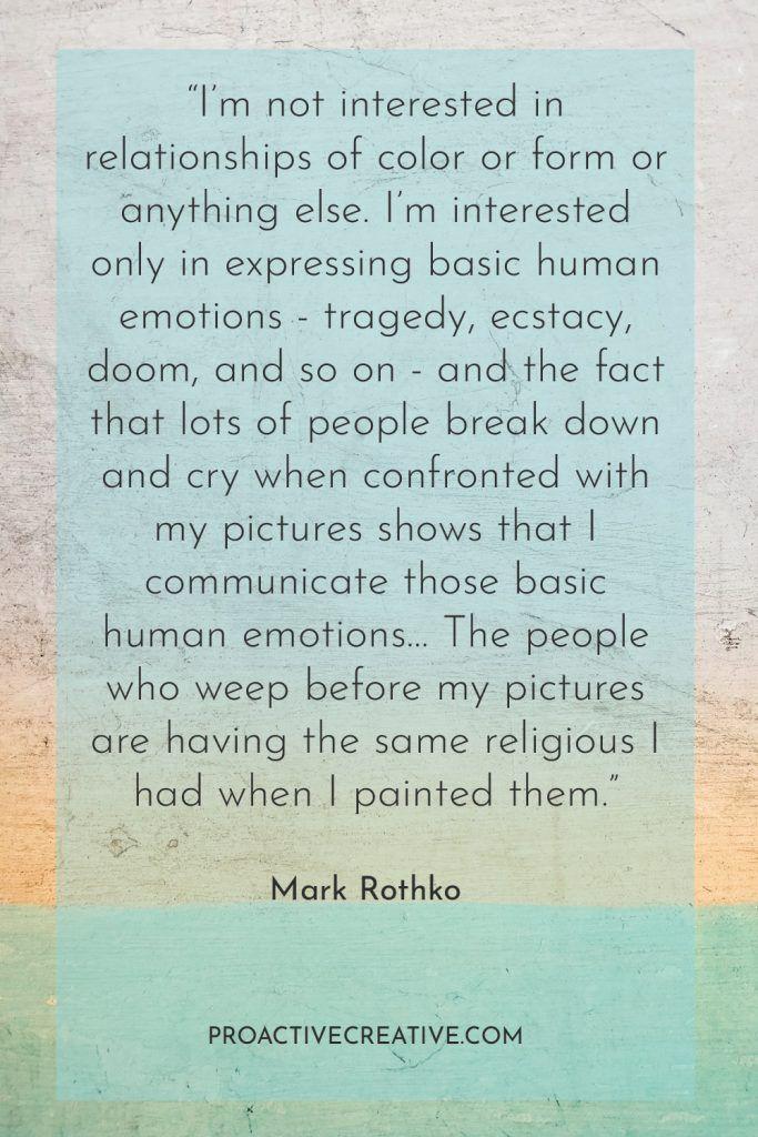 Artist statement example Mark Rothko