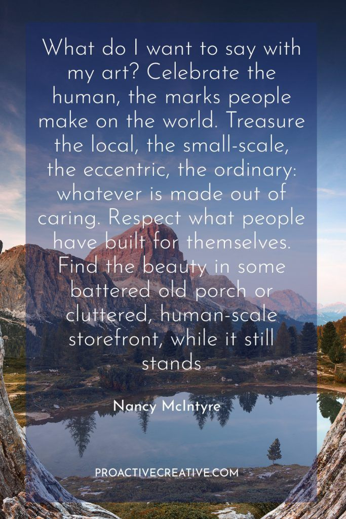 Artist statement example Nancy McIntyre