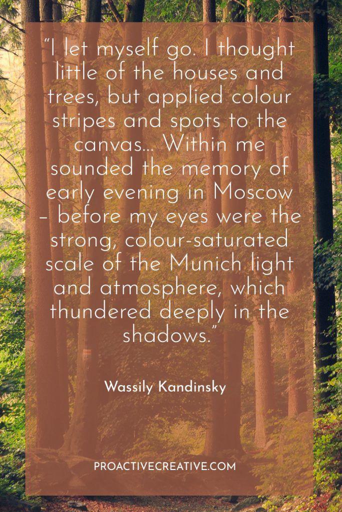 Artist statement example Wassily Kandinsky