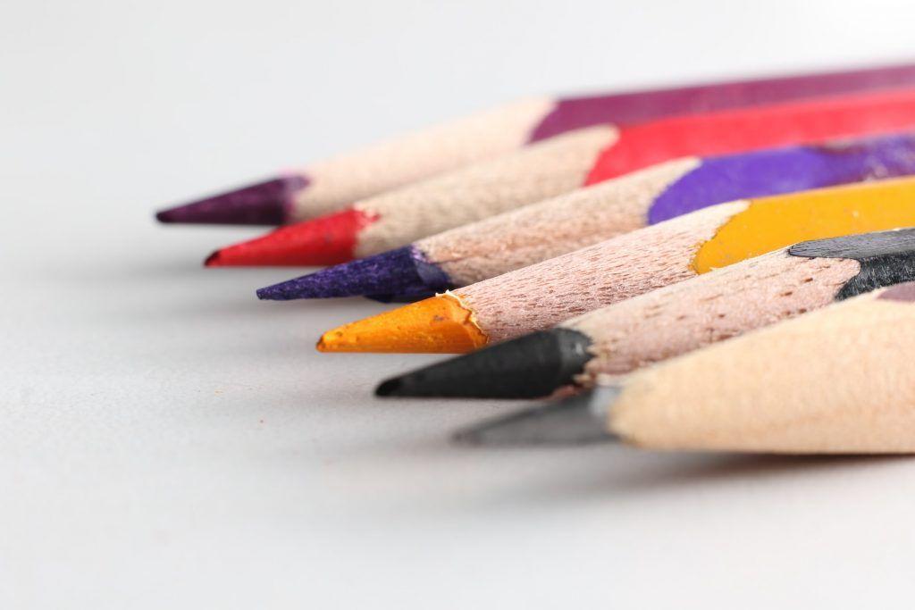 Crayons de couleur à l'huile
