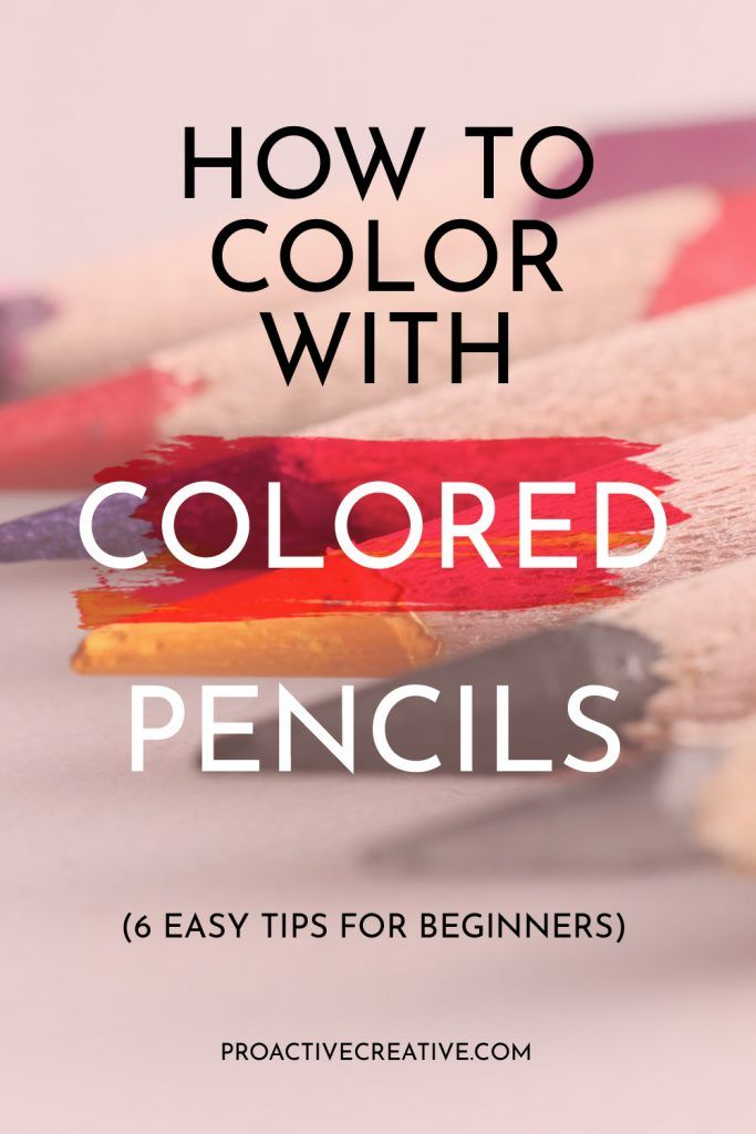 How to color with colored pencils easy tips