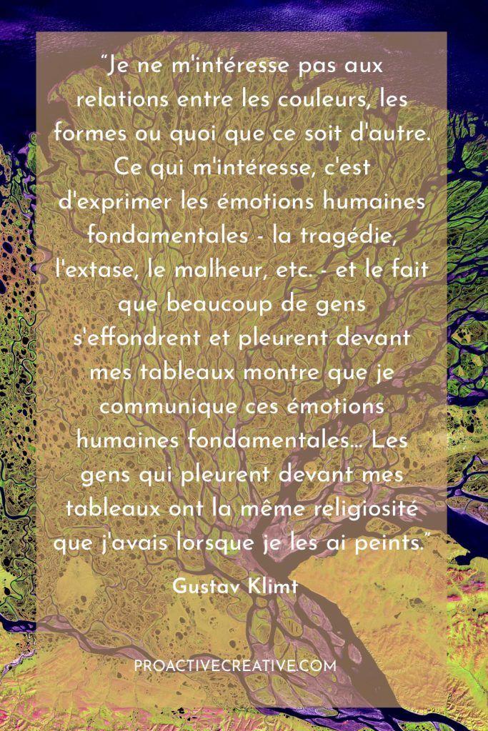 démarche artistique Gustav Klimt
